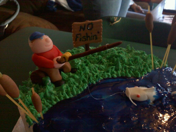 Customized Fishing Theme With Pets Wedding Cake Topper By Mudcards ...